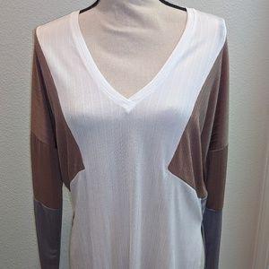 Zara v-neck long sleeve shirt